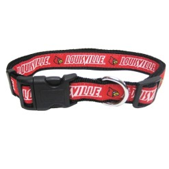 Louisville Cardinals adjustable dog collar