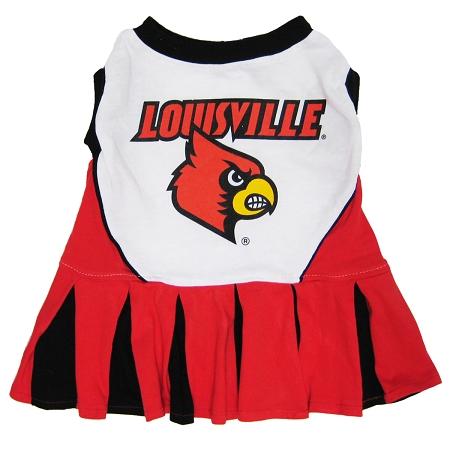 Louisville Cardinals dog cheerleader dress
