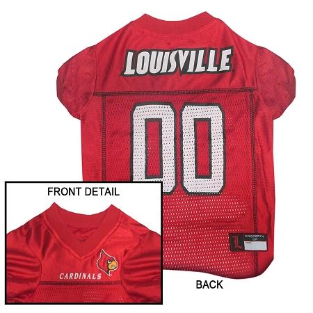 Louisville Cardinals dog jersey