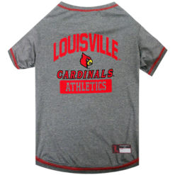 Louisville Carindals NCAA Property of Athletics Dog Shirt