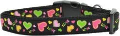 Love and Neon Hearts Dog Collar