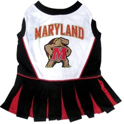Maryland Terapins dog cheerleader dress