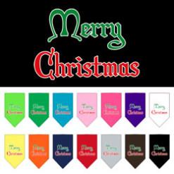 Merry Christmas dog bandana