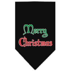 Merry Christmas dog bandana black