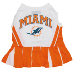 Miami Dolphins NFL dog cheerleader dress