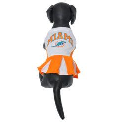 Miami Dolphins NFL dog cheerleader dress on pet
