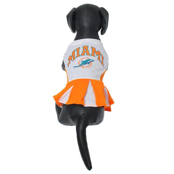 de59e783b ... Miami Dolphins NFL dog cheerleader dress on pet
