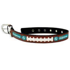 Miami Dolphins NFL leather dog collar large