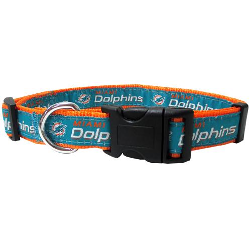 Miami Dolphins Nylon Dog Collar
