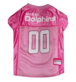 Miami Dolphins Pink NFL Dog Jersey