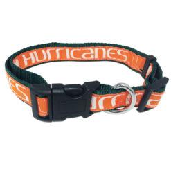 Miami Hurricanes NCAA Nylon Dog Collar