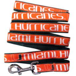 Miami Hurricanes NCAA Nylon Dog Leash