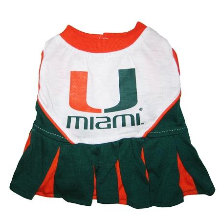 Miami Hurricanes cheerleader dog dress