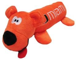 Miami Hurricanes plush tube dog toy