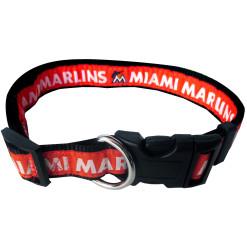Miami Marlins MLB nylon dog collar