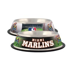 Miami Marlins Stainless dog bowl