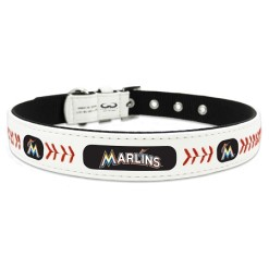 Miami Marlins leather dog collar