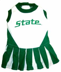 Michigan State Spartans NCAA dog cheerleader dress