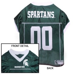 Michigan State Spartans NCAA dog jersey