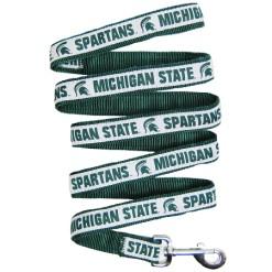 Michigan State Spartans nylon dog leash