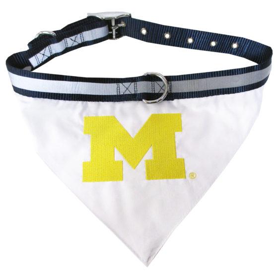 Michigan Wolverines Dog Bandana and Collar