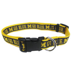 Michigan Wolverines NCAA Nylon Dog Collar