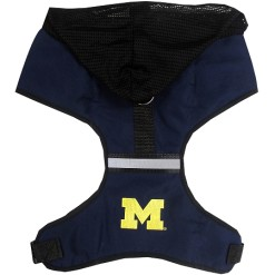 Michigan Wolverines NCAA mesh dog harness