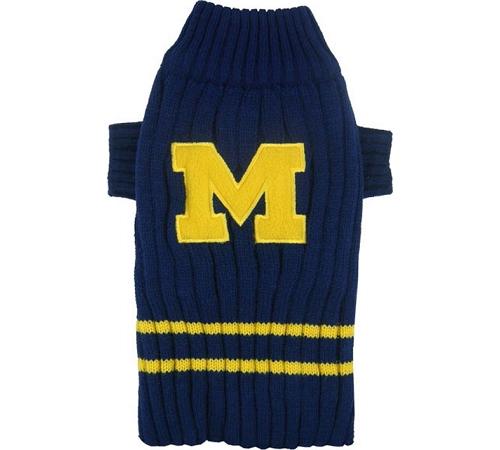 University of Michigan Knitted Turtleneck Pet Sweater