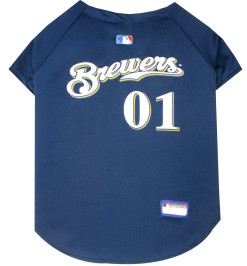 Milwaukee Brewers MLB dog jersey back