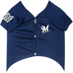 Milwaukee Brewers MLB dog jersey front