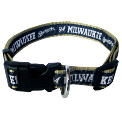 Milwaukee Brewers MLB nylon dog collar