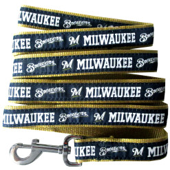 Milwaukee Brewers MLB nylon dog leash
