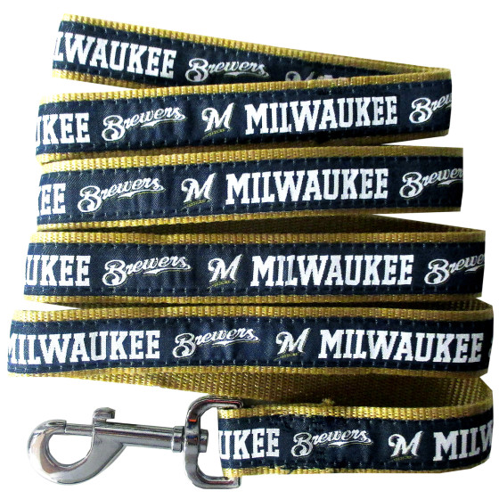 Milwaukee Brewers MLB nylon dog leash
