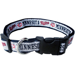 Minnesota Twins MLB nylon dog collar