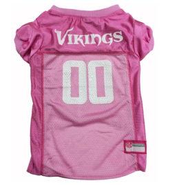 Minnesota Vikings Pink NFL Dog Jersey
