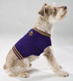 Minnesota Vikings turtleneck dog sweater on pet
