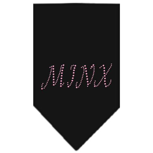 Minx rhinestone pink dog bandana black