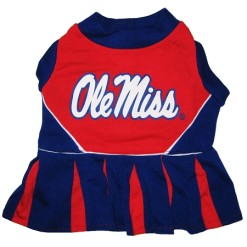 Mississippi Ole Miss Rebels NCAA dog cheerleader dress