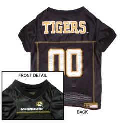 Missouri Tigers NCAA dog jersey