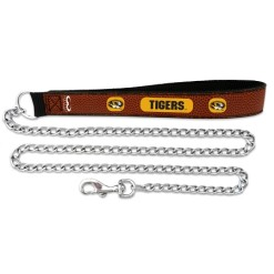 Missouri Tigers NCAA leather dog chain leash
