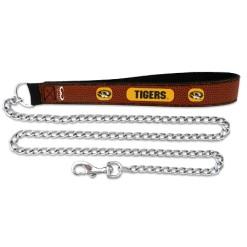 Missouri Tigers NCAA leather dog chain leash