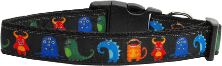 Monster Creatures Nylon Adjustable Dog Collar