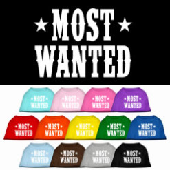 Most Wanted t-shirt sleeveless dog multi-colors