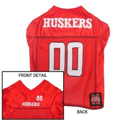 Nebraska Corn Huskers NCAA dog jersey