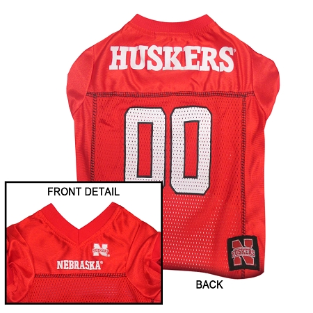 Nebraska Corn Huskers NCAA dog jersey