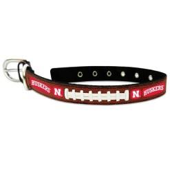 Nebraska Cornhuskers NCAA leather dog collar large