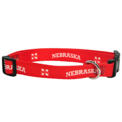 Nebraska Cornhuskers adjustable dog collar