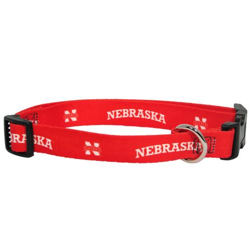 Nebraska Cornhuskers adjustable dog collar