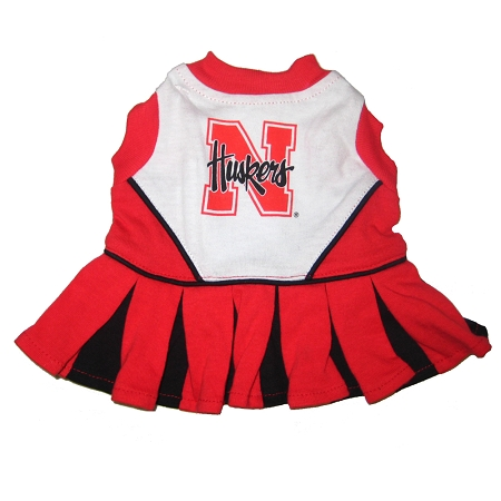 Nebraska Cornhuskers dog cheerleader dress