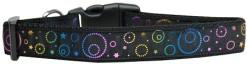 Neon Spiral Galaxies and Stars adjustable dog collar